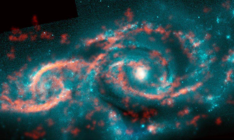 """Телескоп ALMA зробив знімок космічної """"цунамі"""", що виникла при зіткненні двох галактик"""
