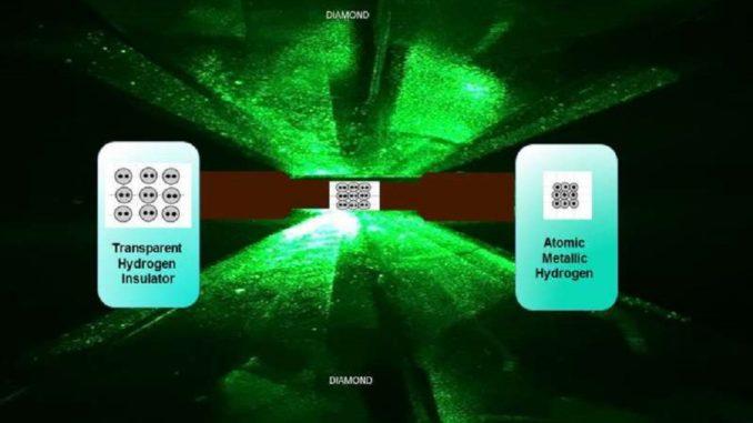 Металева форма водню була отримана вченими вперше в історії