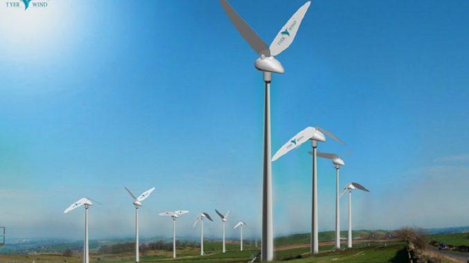 Tyer Wind - вітряної генератор, який розмахує лопатями, як птах - крилами