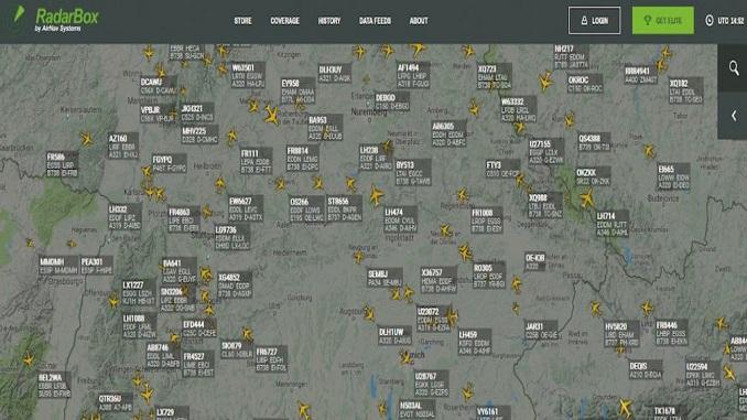 відслідкувати рух літака