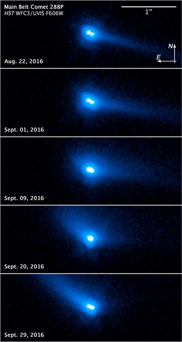 Космічний телескоп Hubble виявив дивний космічний об'єкт Body 288P