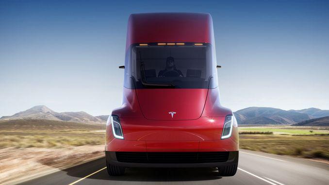 Представлена електрична вантажівка Tesla Semi Truck