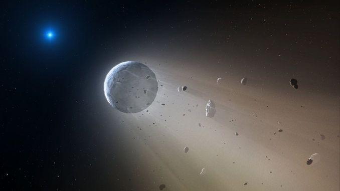 Екзопланета K2-22b розпадається на частини