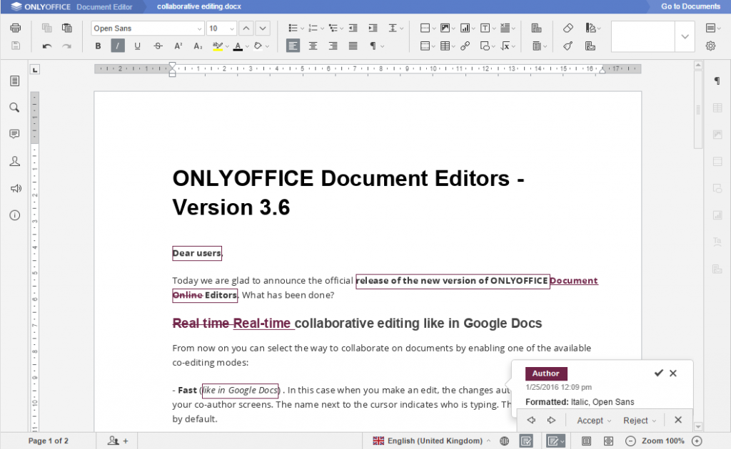 ONLYOFFICE - максимальна сумісність з форматами Microsoft