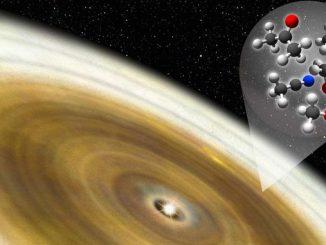 В околицях молодої зірки виявлена складна органіка