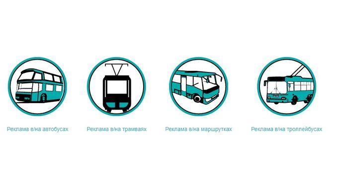 Виды транспортной рекламы