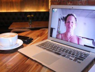 сервіси для відеозв'язку скайп дистанційне навчання кава робота ноутбук