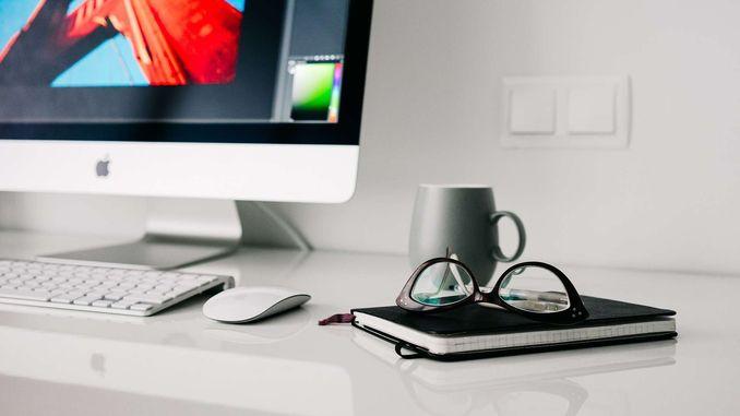 окуляри для роботи за комп'ютером apple мишка очки блокнот мишка клавіатура, монітор