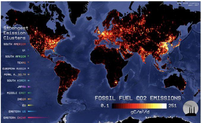 викиди вуглекислого газу Чому середня температура на Землі зростає?